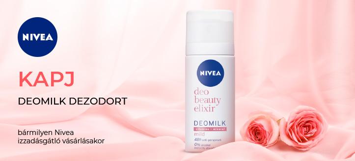 Bármilyen Nivea izzadásgátló vásárlásakor, kapj Deomilk dezodort ajándékba