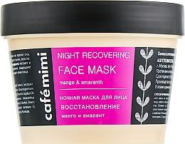 """Parfüm, Parfüméria, kozmetikum Éjszakai arcmaszk """"Helyreállítás"""" - Cafe Mimi Night Recovering Face Mask"""