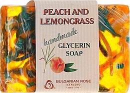 """Parfüm, Parfüméria, kozmetikum Glicerin szappan """"Őszibarack és citromfű"""" - Bulgarian Rose Peach & Lemongrass Soap"""