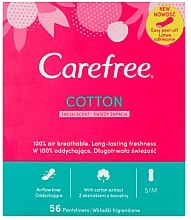 Parfüm, Parfüméria, kozmetikum Tisztasági betét, frissesség illat, 56 db - Carefree Cotton Fresh