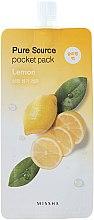 Parfüm, Parfüméria, kozmetikum Éjszakai maszk citrom kivonattal - Missha Pure Source Pocket Pack Lemon