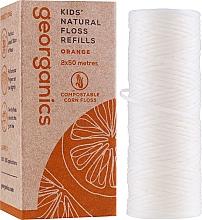 Parfüm, Parfüméria, kozmetikum Fogselyem, 2x50 m - Georganics Natural Sweet Orange Dental Floss (utántültő)