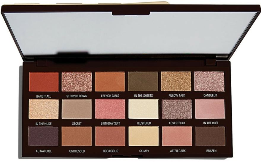 Szemhéjfesték paletta, 18 árnyalat - I Heart Revolution Chocolate Palette