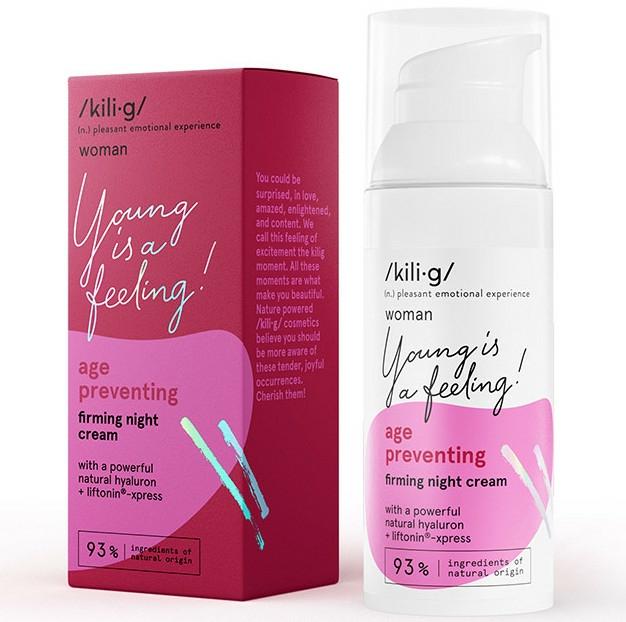 Erősítő éjszakai arckrém - Kili·g Woman Age Preventing Night Cream