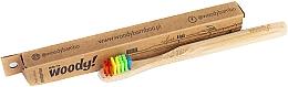 """Parfüm, Parfüméria, kozmetikum Gyerek bambusz fogkefe """"Colour"""", színes sörtével - WoodyBamboo Bamboo Toothbrush Kids Soft/Medium"""