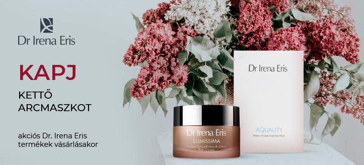 Akciós Dr Irena Eris termékek vásárlásakor kapj ajándékba kettő hidratáló arcmaszkot