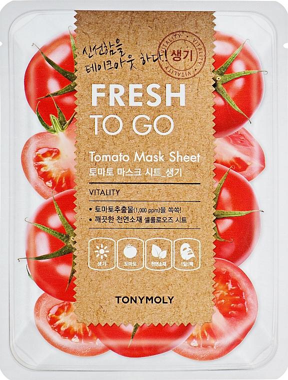Frissítő szövetmaszk paradicsommal - Tony Moly Fresh To Go Mask Sheet Tomato