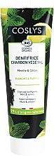 Parfüm, Parfüméria, kozmetikum Fogkrém szénnel és mentollal - Coslys Mint & Lemon Charcoal Toothpaste