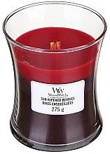Parfüm, Parfüméria, kozmetikum Illatgyertya pohárban - WoodWick Hourglass Trilogy Candle Sun Ripened Berries