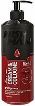 Parfüm, Parfüméria, kozmetikum Krém-kölni borotválkozás után - Nishman Cream & Cologne 2in1 Pyrogeneous №03