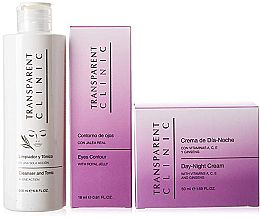"Parfüm, Parfüméria, kozmetikum Szett - Transparent Clinic ""Day & Night"" (f/cleancer/200ml + eye/cream/18ml + f/cream/50ml)"