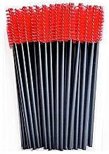 Parfüm, Parfüméria, kozmetikum Nylon szempilla kefe, fekete-piros - Novalia Group