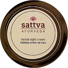 Parfüm, Parfüméria, kozmetikum Gyógynövényes éjszakai krém - Sattva Ayurveda Herbal Night Cream
