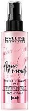 Parfüm, Parfüméria, kozmetikum Fixáló arcmiszt csillám hatással 4az1 - Eveline Glow And Go! Aqua Miracle Face Mist 4in1 Pink
