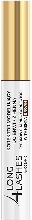 Henna szemöldökfestő korrektor - Long4Lashes Eyebrow Shaping Corrector with Henna
