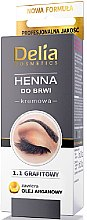 Parfüm, Parfüméria, kozmetikum Krémes henna szemöldökfesték, grafit - Delia Brow Dye Graphite Henna Cream