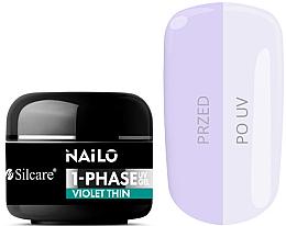 Parfüm, Parfüméria, kozmetikum Körömápoló gél - Silcare Nailo 1-Phase Gel UV Violet Thin