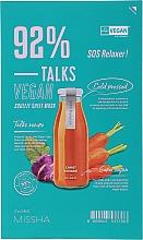 Parfüm, Parfüméria, kozmetikum Szövetmaszk - Missha Talks Vegan Squeeze Sheet Mask SOS Relaxer