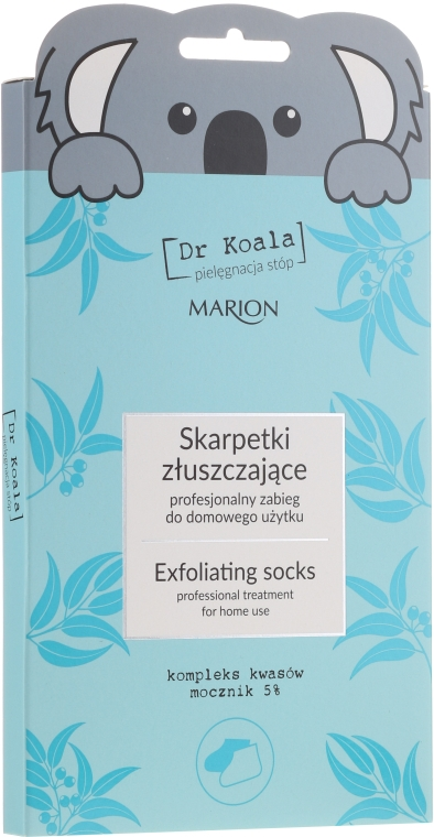 Hámlasztó zokni-lábmaszk - Marion Dr Koala Exfoliating Socks