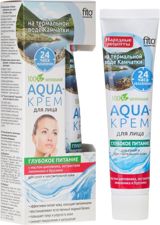 """Aqua-arckrém Kamcsatka termálvízén """"Mélyen tápláló"""" száraz és érzékeny bőrre - Fito Kozmetikum"""