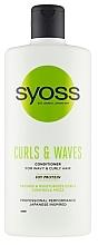 Parfüm, Parfüméria, kozmetikum Kondicionáló göndör és hullámos hajra - Syoss Curls & Waves Conditioner With Soi Protein