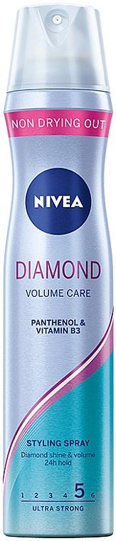 """Hajlak """"Dús hatás és ragyogás"""", extra erős fixáló - Nivea Diamond Volume Care 5"""