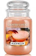 Parfüm, Parfüméria, kozmetikum Illatgyertya üvegben - Country Candle Peach Bellini