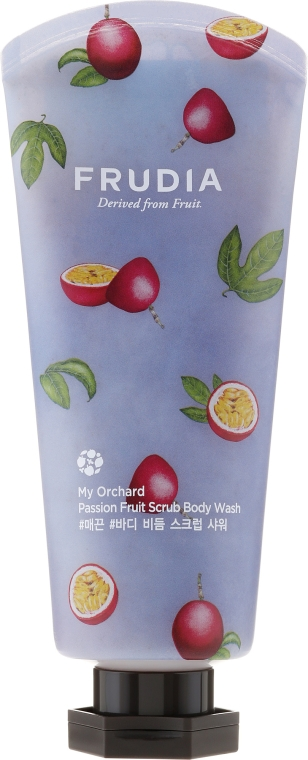 Radírozó hatású tusfürdő maracuja illattal - Frudia My Orchard Passion Fruit Scrub Body Wash
