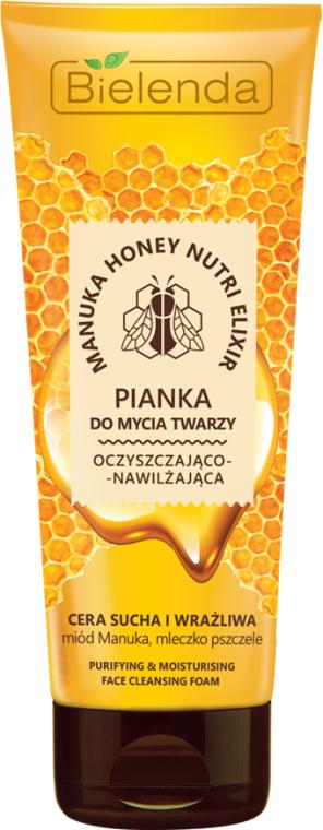 Tisztító és hidratáló hab - Bielenda Manuka Honey Nutri Elixir Facial Foam