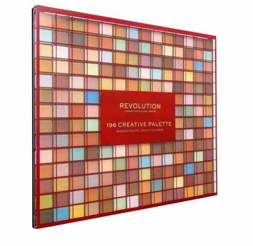 Szemhéjfesték paletta, 196 árnyalat - Makeup Revolution 196 Creative Palette Eyeshadow Palette