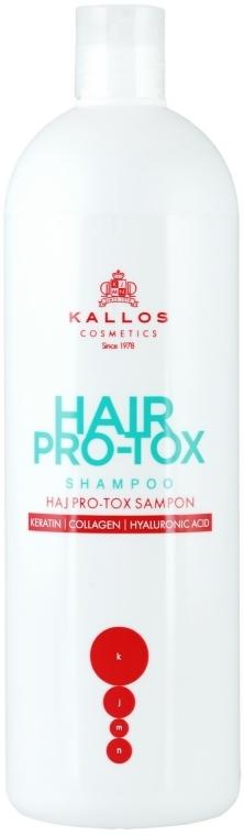 Sampon keratinnal, kollagénnel és hialuronsavval - Kallos Cosmetics Hair Pro-tox Shampoo
