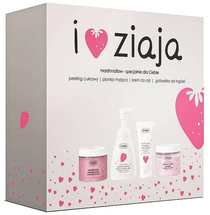 Szett - Ziaja I Love Ziaja Marshmallow (b/peeling/300ml + h/cr/50ml + shower/gel/260ml + b/foam/250ml)
