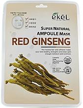 Parfüm, Parfüméria, kozmetikum Anyagmaszk ginzeng kivonattal - Ekel Super Natural Ampoule Mask Red Ginseng