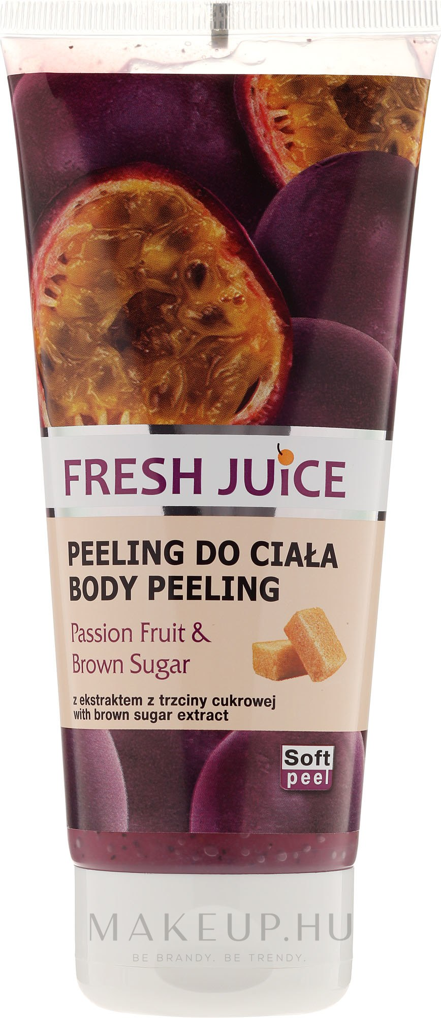 "Testradír ""Maracuja és Barna cukor"" - Fresh Juice Passion Fruit & Brown Sugar — fotó 200 ml"