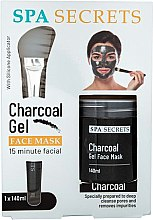 Parfüm, Parfüméria, kozmetikum Szett - Spa Secrets Charcoal Gel Face Mask (mask/140ml + brush/mask/1pcs)