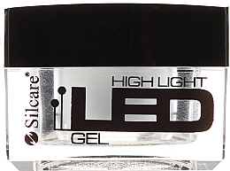 Parfüm, Parfüméria, kozmetikum Körömépítő zselé, fehér - Silcare High Light LED White