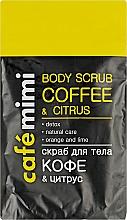 """Parfüm, Parfüméria, kozmetikum Testradír """"Kávé és citrus"""" - Cafe Mimi Body Scub Coffee & Citrus"""
