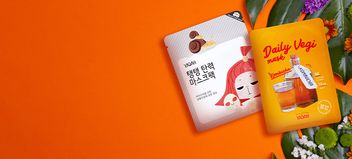 Yadah termékek 4215 Ft feletti vásárlása során, kapj választható arcmaszkot: Collagen vagy Daily Vegi Kombucha