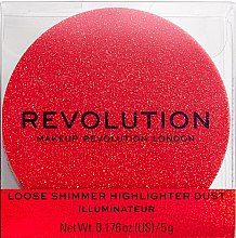 Parfüm, Parfüméria, kozmetikum Highlighter arcra - Makeup Revolution Shimmer Dust