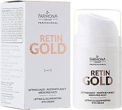 Parfüm, Parfüméria, kozmetikum Lifting szemkörnyékápoló krém - Farmona Retin Gold Lifting & Illuminating Eye Cream