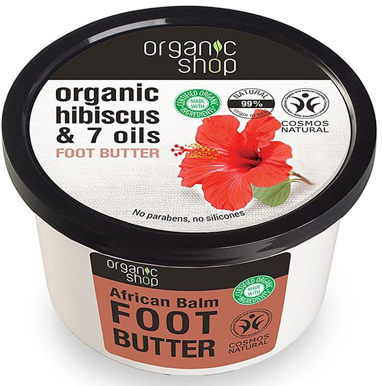 "Lábvaj ""Afrikai balzsam"" - Organic Shop Organic Hibiscus & 7 Oils Foot Butter — fotó N1"