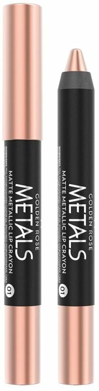 Ajakrúzs ceruza - Golden Rose Metals Matte Metallic Lip Crayon