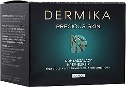 Parfüm, Parfüméria, kozmetikum Fiatalító éjszakai krém-elixír arcra - Dermika Precious Skin Rejuvenating night Cream-Elixir