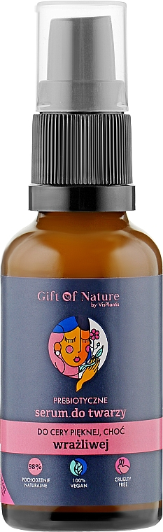 Prebiotikumos szérum érzékeny arcbőrre - Vis Plantis Gift of Nature Prebiotic Face Serum For Sensitive Skin