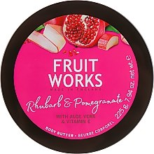 """Parfüm, Parfüméria, kozmetikum Testápoló olaj """"Rebarbara és gránátalma"""" - Grace Cole Fruit Works Body Butter Rhubarb & Pomegranate"""