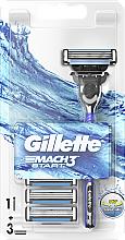 Parfüm, Parfüméria, kozmetikum Borotva 3 db. pótfejjel - Gillette Mach 3 Turbo Start