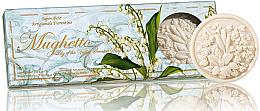 "Parfüm, Parfüméria, kozmetikum Szappan készlet ""Gyöngyvirág"" - Saponificio Artigianale Fiorentino Lily Of The Valley Scented Soap"