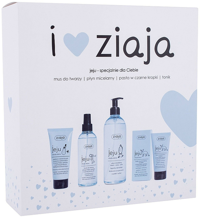 Szett - Ziaja I Love Ziaja (f/paste/75ml + f/tonic/200ml + mincellar/water/390ml + f/muss/50ml)