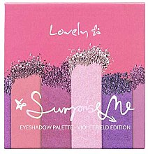 Parfüm, Parfüméria, kozmetikum Szemhéjfesték paletta - Lovely Surprise Me Eyeshadow Palette Violet Field Edition