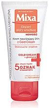 Parfüm, Parfüméria, kozmetikum Tápláló krém nyugtató hatással - Mixa Sensitive Skin Expert 24H Moisturizer With Cold Cream
